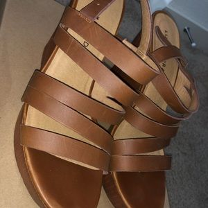 Lucky Brand Camel Colored Wedges